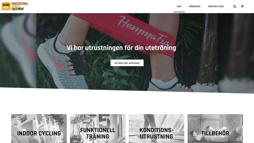 webbshop lansering